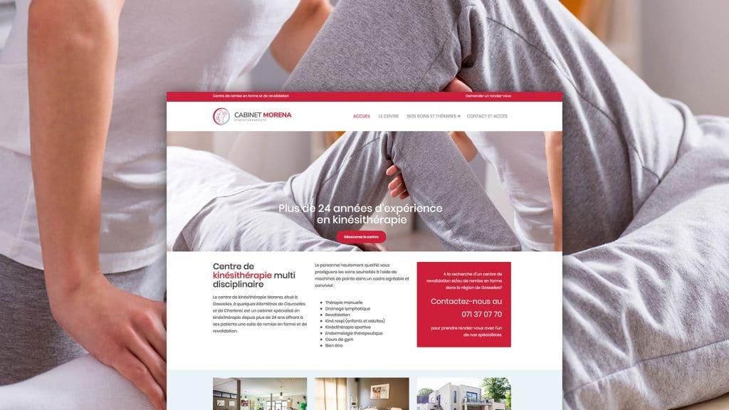 creation site web gosselies kinésithérapeute