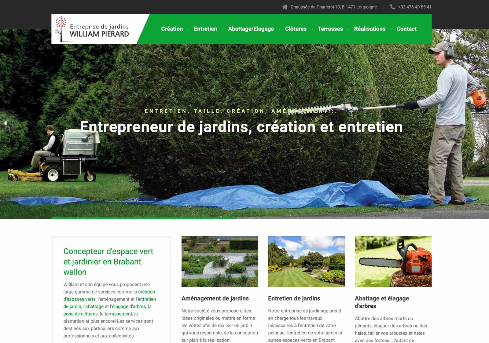 referencement site web entreprise de jardins